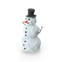 Low Poly Snowman PNG & PSD Images