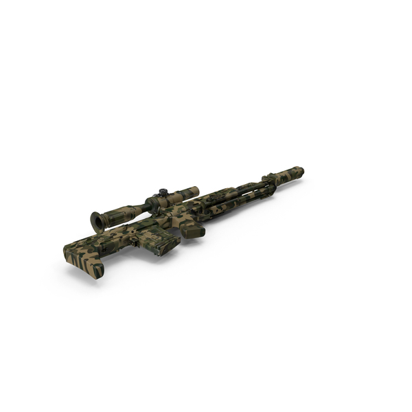 Russian Sniper Rifle Dragunov SVU PNG & PSD Images