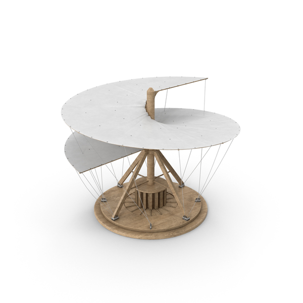 Leonardo Da Vinci's Aerial Screw PNG & PSD Images