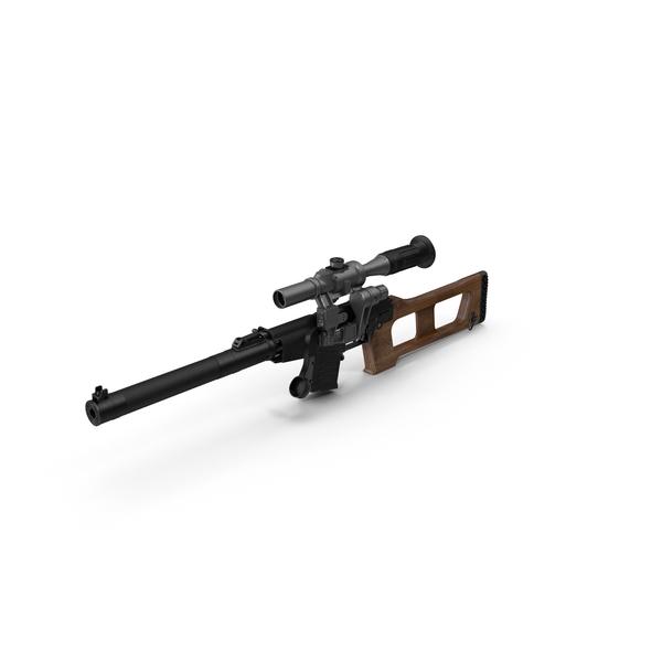 Sniper Rifle VSS Vintorez PNG & PSD Images