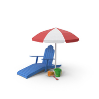 Low Poly Beach Scene PNG & PSD Images
