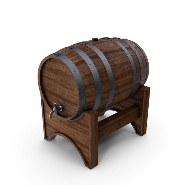 Wooden Barrel Object