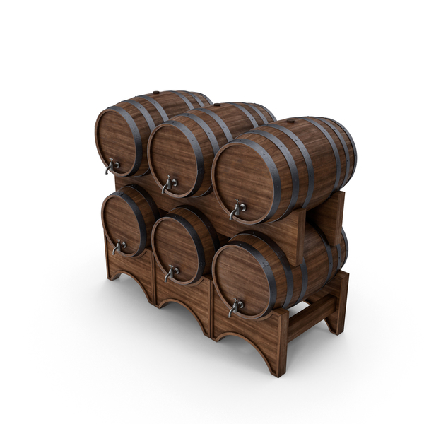 Wooden Barrels Object