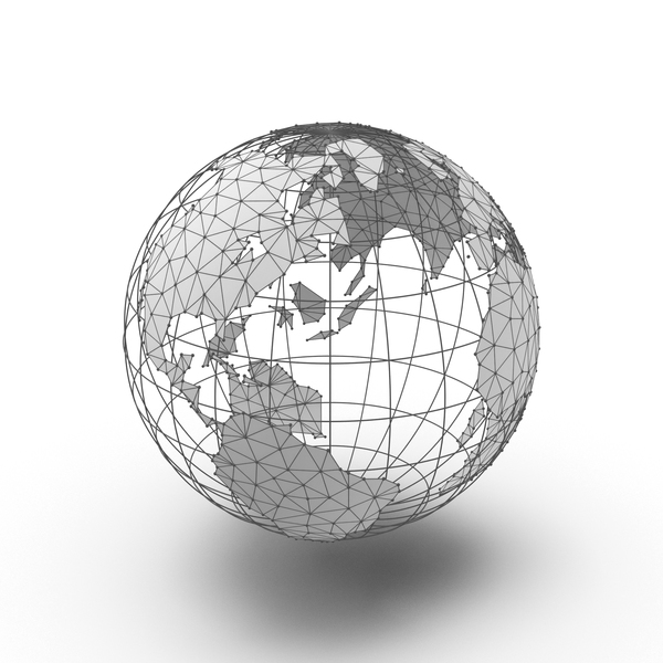 Wire Frame Globe PNG & PSD Images