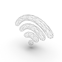 Wifi Symbol Wire Frame PNG & PSD Images