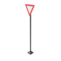 Triangle Road Sign PNG & PSD Images