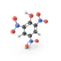 Picric Acid Molecule PNG & PSD Images