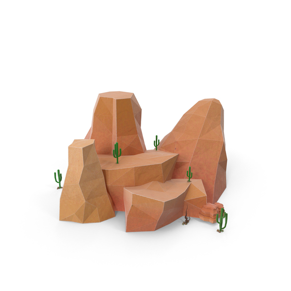 Boulders with Cacti Object