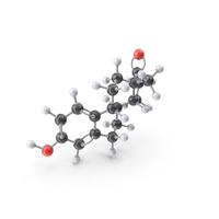 Estrogen (Estrone) Molecule PNG & PSD Images