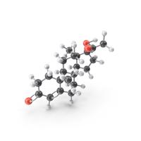 Hydroxyprogesterone Molecule PNG & PSD Images