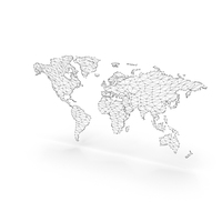 Wireframe Continents PNG & PSD Images