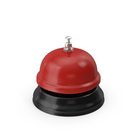 Red Service Bell PNG & PSD Images