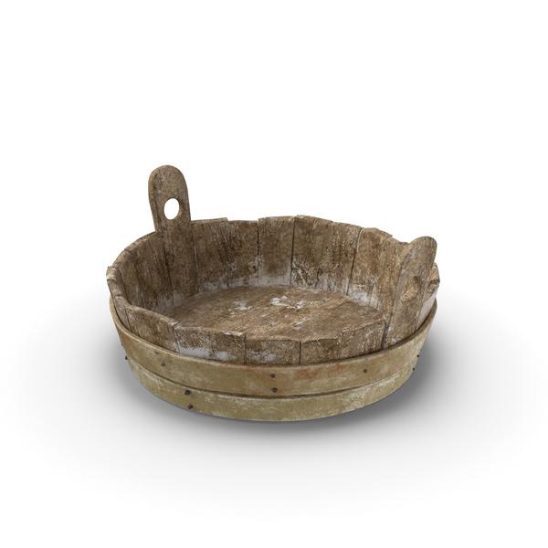 Medieval Wash Tub Object