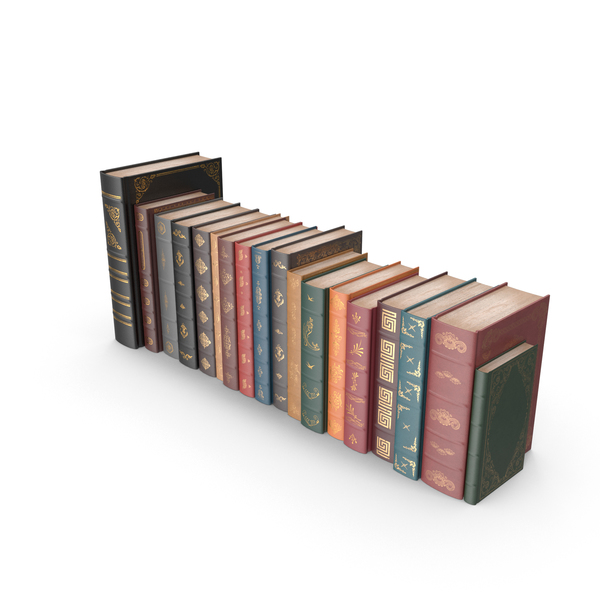 Row of Classic Books Object