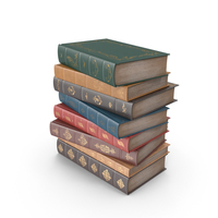 Short Stack of Classic Books PNG & PSD Images