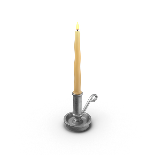Table Candle in Holder PNG & PSD Images