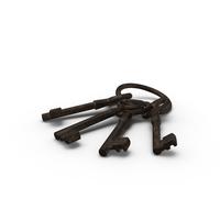 Old Skeleton Keys on Ring PNG & PSD Images