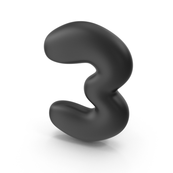 Bubble Number 3 PNG & PSD Images