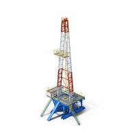 Fracking Gas Platform PNG & PSD Images