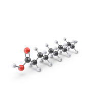 Decanoic Acid Molecule PNG & PSD Images