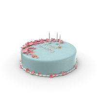 Birthday Cake with Candles PNG & PSD Images