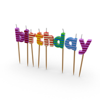 Happy Birthday Candles PNG & PSD Images