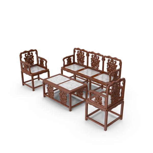 Oriental Furniture Set PNG & PSD Images