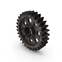 Dirty Silver Gear PNG & PSD Images