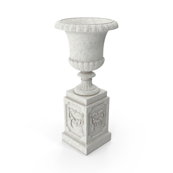 Stone Pedestal Outdoor Urn PNG & PSD Images