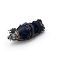 Turboprop Aircraft Engine Pratt and Whitney Canada PT6 PNG & PSD Images
