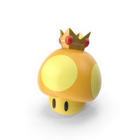 Golden Mushroom (Super Mario) PNG & PSD Images