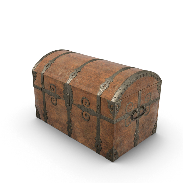 Medieval Sea Chest-Closed Object