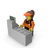 Lego Woman Cashier PNG & PSD Images