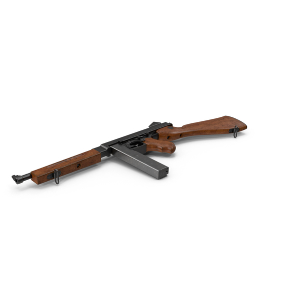 Submachine Gun Thompson M1A1 SMG PNG Images & PSDs for Download