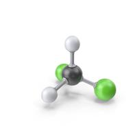 Dichloromethane Molecule PNG & PSD Images