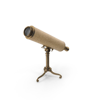 Vintage Table Telescope PNG & PSD Images