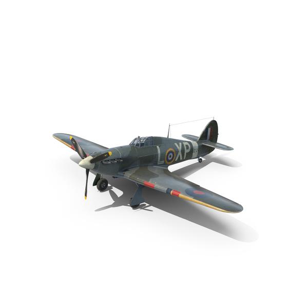Weathered Hawker Hurricane Object