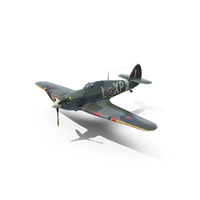 Weathered Hawker Hurricane PNG & PSD Images