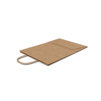 Folded Paper Bag With Handle PNG & PSD Images