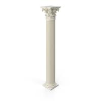 Fluted Roman Corinthian Column PNG & PSD Images