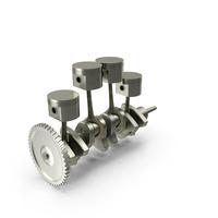 Engine Piston and Crankshaft PNG & PSD Images