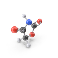 Oxazolidinedione Molecule PNG & PSD Images