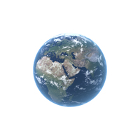 Earth With Clouds PNG & PSD Images