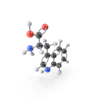 Tryptophan Molecule PNG & PSD Images