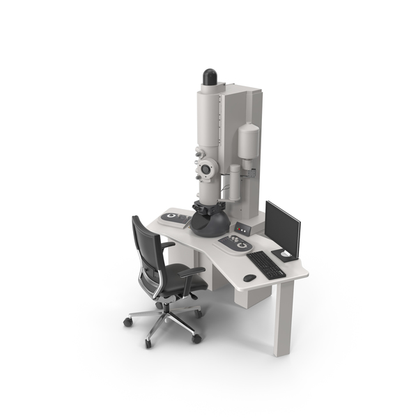 Transmission Electron Microscope and Chair PNG & PSD Images