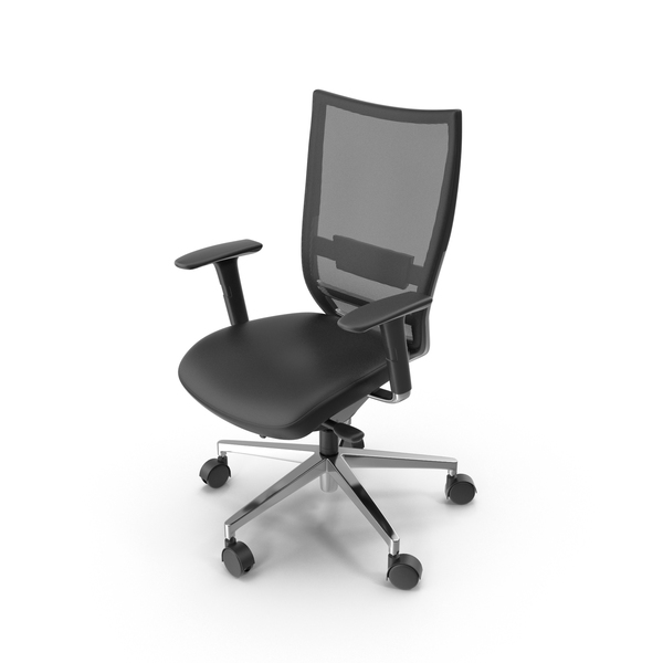 Black Mesh Office Chair Object