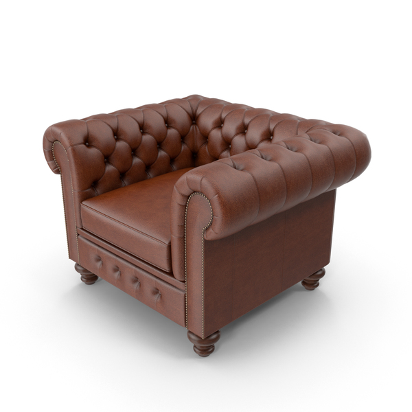 Chesterfield Leather Chair Object