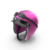 Pink Retro Motorcycle Helmet PNG & PSD Images