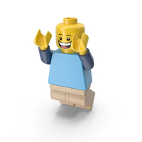 Lego Man Jumping PNG & PSD Images