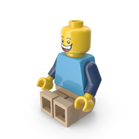 Lego Man Sitting PNG & PSD Images